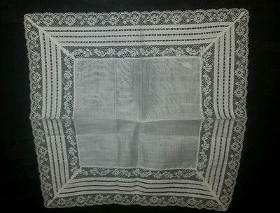 Antique Womens Embroidered Handkerchief