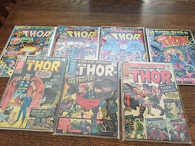 Comics Journey into Mystery and Thor Silver Age Lot of 7 annuals 1 2 3 4 5 6 & 7