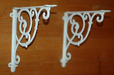 Vintage SHELF BRACKETS * Cast Iron LOT ** Antique Farm Decor * Barn Items * PAIR