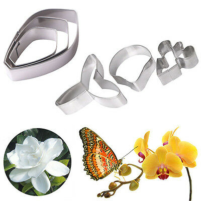 3D Gardenia Butterfly Orchid Flower Fondant Cake Sugarcraft Mould Decoratin Tool