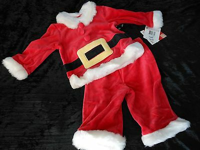 Nwt Baby Boy Girl 0 3 M Red Santa Outfit Set Holiday Christmas Portrait New