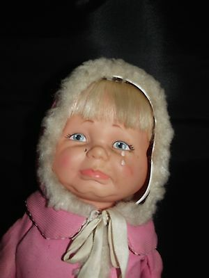 24'. LITTLE LOST BABY 3 rotating faces Ideal doll happy crying asleep 1968!