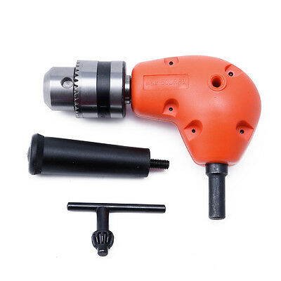"""3/8"""" Grip Right Angle Drill Attachment 90 Degree Handle Key Chuck Adapter New"""