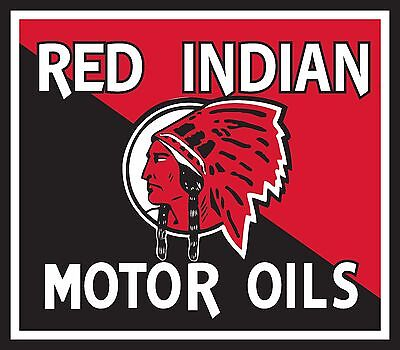 "Red Indian Motor Oil Super High Gloss Outdoor 4"" Oil Decal Sticker"