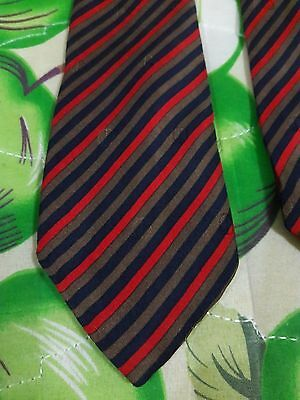 Vintage Dunhill London 100% Silk Soie Made In Italy