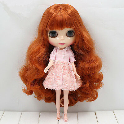 """12"""" Takara Blythe Nude Doll With Long Copper Red Color Hair 30CM Height New"""