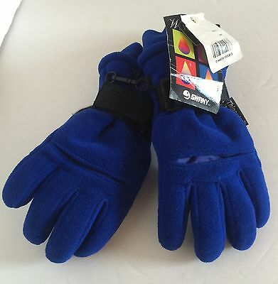 Thinsulate 3M Waterproof Swany Blue Youth Snow Winter Gloves New