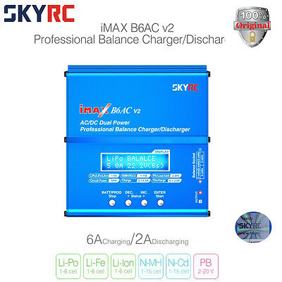 AUTHORIZED Skyrc iMAX B6AC V2 Balance Charger Discharger SK-100008-01 Battery
