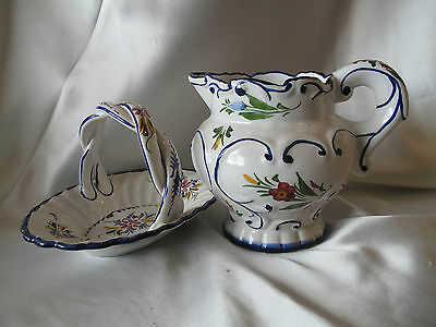 Jug & Pretty Dish Hand Painted From Portugal