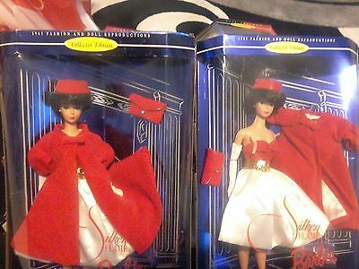 "2 Mattel Collector Edition - 1998 ""Silken Flame"" Barbie Doll - 1962 Fashions"