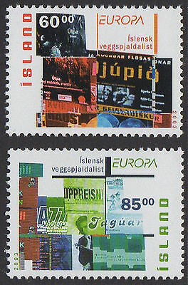 ICELAND, SC 993-994, 2003 Europa stamps, set of 2. MNH. CV $4.25
