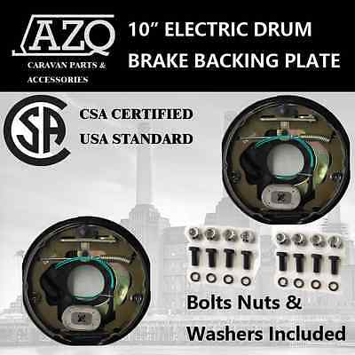 "X2 10"" Electric Drum Brake Backing Plate Handbrake Lever (Csa Certified)"