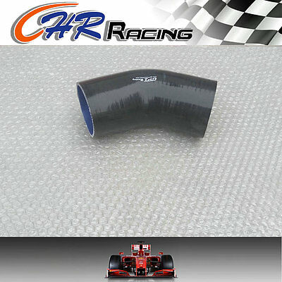 "Silicone 45 degree Elbow 76mm 3"" inch Turbo Intercooler hose pipe Black"