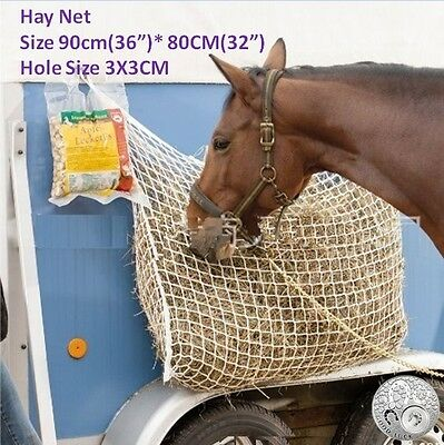 Small 90X80CM Slow-Feeder-Hay-Net-3x3-Round-Bale-Whoa-Steady Horse Hay Net