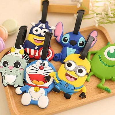 Cute Cartoon Silicone Travel Luggage Tags Name Address ID Suitcase Bag Labels