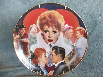 I Love Lucy Lucille Ball Hamilton Collection Plate 1992 With COA