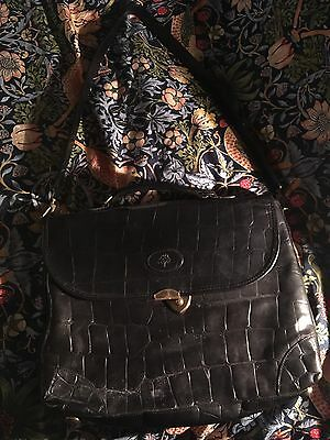 Black Congo Leather Mulberry Briefcase Bag Large- Vintage And Authentic