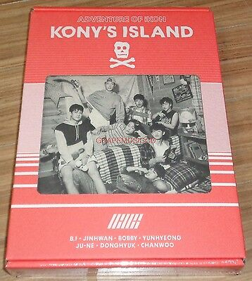 iKON 2016 SEASON'S GREETINGS KONY'S ISLAND LIMITED EDITION + FOLDED POSTER NEW