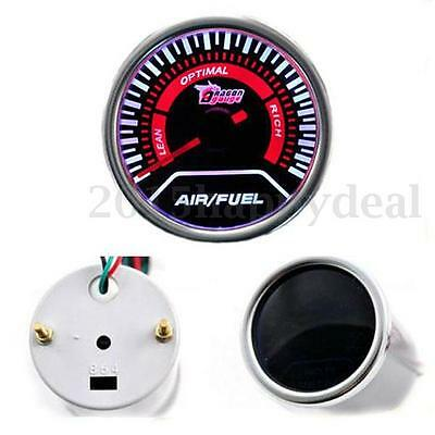 2'' 52mm Universal Car Auto Truck Len Air/Fuel Ratio LED Gauge Pointer Smoke 12V