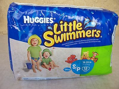 Huggies Little Swimmers Disposable Swim Diapers Small 16-26 lbs 12 Count