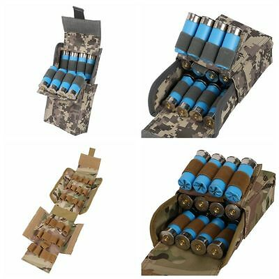 12G Ammo Holder Tactical Shotgun Sling Molle 25 Round Reload Magazine Pouch Cool