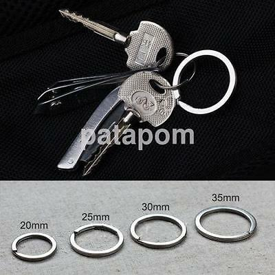20PCS Stainless Steel Hoop Split Key Ring Chain Loop Keyrings Connectors UK