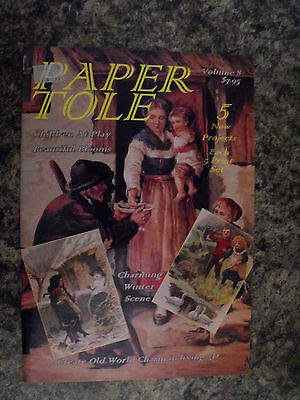 Paper Tole Instructional Book-Volume 8-Snow Man-The Beggar-5 Projects-New