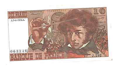 Billet 10 francs Berlioz 1976 SUP