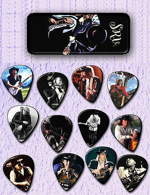 Stevie Ray Vaughan  -- Guitar Pick Tin includes 12 Guitar Picks