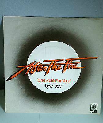 """AFTER THE FIRE ONE RULE FOR YOU / JOY 7"""" Single"""