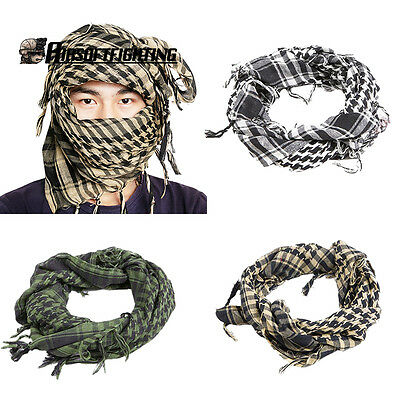 Tactical Arabian Square Scarf Face Mask Hood Thin Section Cycling Camping Huntin