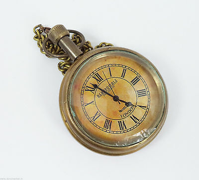 Handmade Vintage Antique designed Pocket Watch with long chain - by Dorpmarket