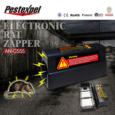 Electronic Mouse Rat Rodent Killer Zapper Trap Pest Control Main or Battery