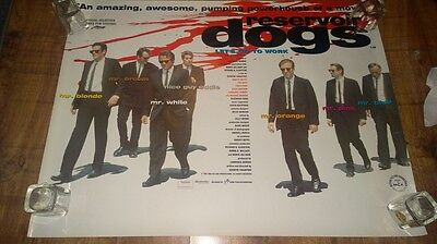 Rare Reservoir Dogs authentic 1992 original uk quad poster 30 x 40
