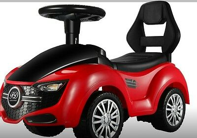 kids Ride on push along MERCEDES like car with light music RED Christmas present