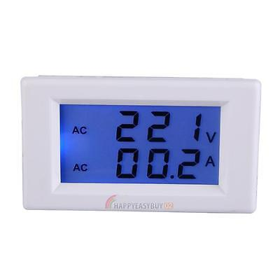 Digital Ammeter Voltmeter LCD Volt Amp Panel Meter Display Voltage AC 100-300V