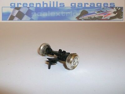 Greenhills Scalextric Formula Junior Chrome Front Axle Assembly & Wheels - Used