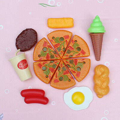 13pcs Funny Kids Plastic Pizza Cola Ice Cream Food Kitchen Role Play Toy Hot Set