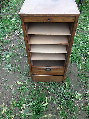 French Tambour Filing Cabinet