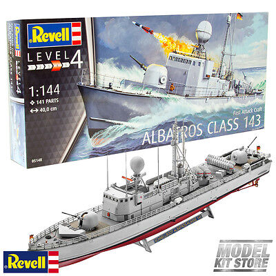 Fast Attack Craft Albatros Class 143 - 1/144 Revell Model Naval Ships #5148 New