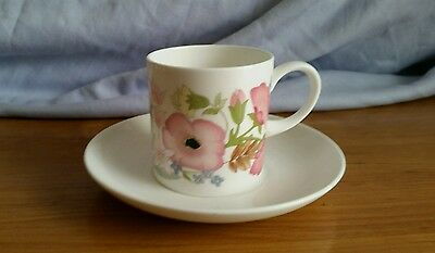 Wedgwood Coffee Can & Saucer - Meadow Sweet