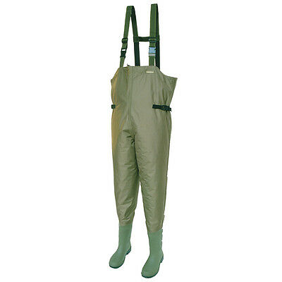 Snowbee Chest Waders Size 11 210D Nylon CHEST Booted Wader New