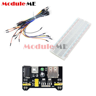 MB-102 Solderless Breadboard Protoboard 830 Tie Points 2 buses Test Circuit MO