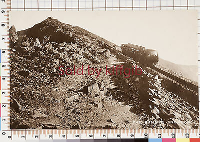 The summit Snowdon with Train vintage postcard local publisher