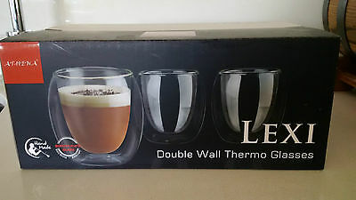 DOUBLE-WALL Thermo Glasses 6 pieces NEW Boxed 220ml