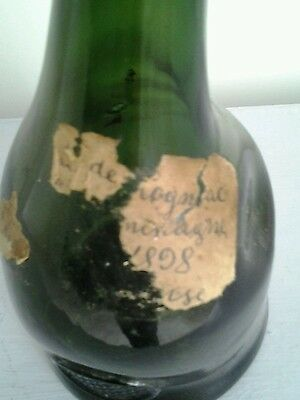 Antique French Cognac bottle  with label 1898