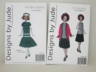 """Designs by Jude-Two Patterns for Tonner 16"""" Deja Vu-New-SALE"""