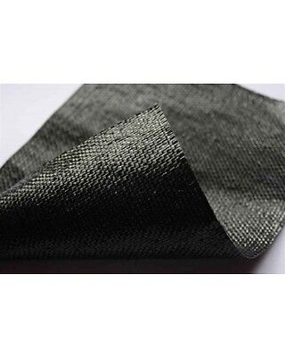 112m Roll of 78gsm G90 Black Woven Geotextile Membrane Permeable Weed Prevention