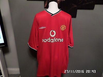 Mens Red Man United Shirt By Umbro Size Uk Xl