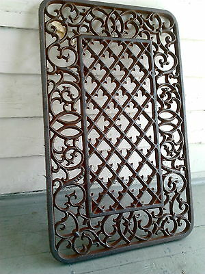 Architectural Cast Iron Grate #6 New Orleans French Quarter Garden Gate Fence